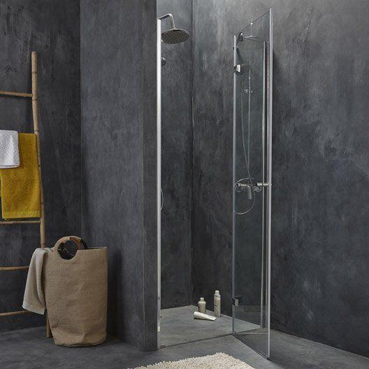 Porte de douche pivotante Open 2, verre de sécurité transparent
