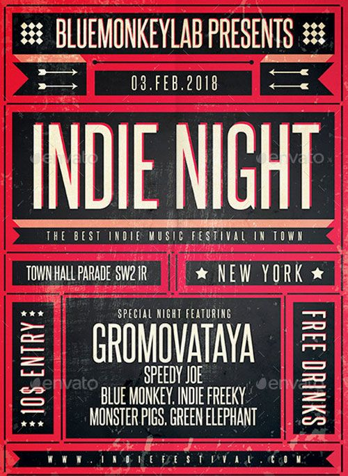 Indie Poster and Flyer Template – ffflyer.com/… Enjoy downloading the Indie Po…