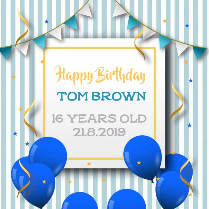 Pin On Birthday Poster Templates