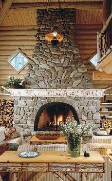 Rustic stone fireplace perfect fireplace pinterest for Rustic stone fireplace