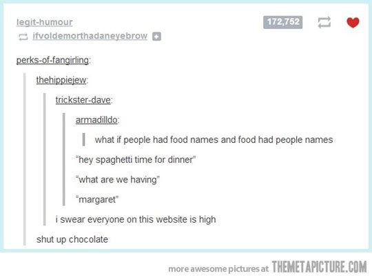What if people had food names and food had people names?