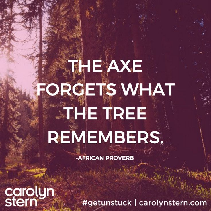 The axe forgets what the tree remembers.