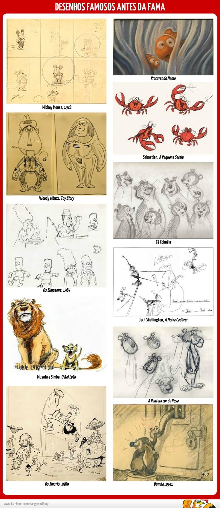 Desenhos famosos antes da fama