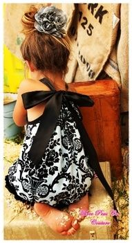 bow in the back pillow case dress... have the ribbon go around the front and split the casing in the back panel of the dress for the bow @Amy C i need this for my girls =)