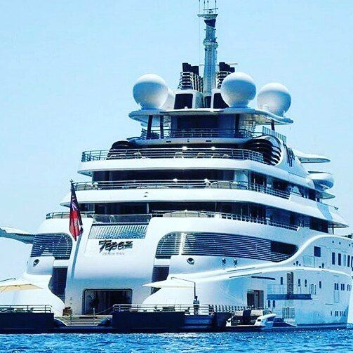 147m Topaz is simply a huge superyacht! #luxury #yacht #sunshades #yachtinline #…
