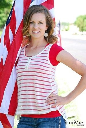 Love this Sheer Striped High Low Tank from NoVae Clothing! Perfect for the 4th of July! Free shipping plus an EXCLUSIVE Coupon Code for 10% off! Enter Code: novae10 at checkout! Good through Sunday 6/23/13