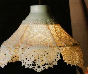 Luminária (Crochet Lampshade by Elizabeth Hiddleson(