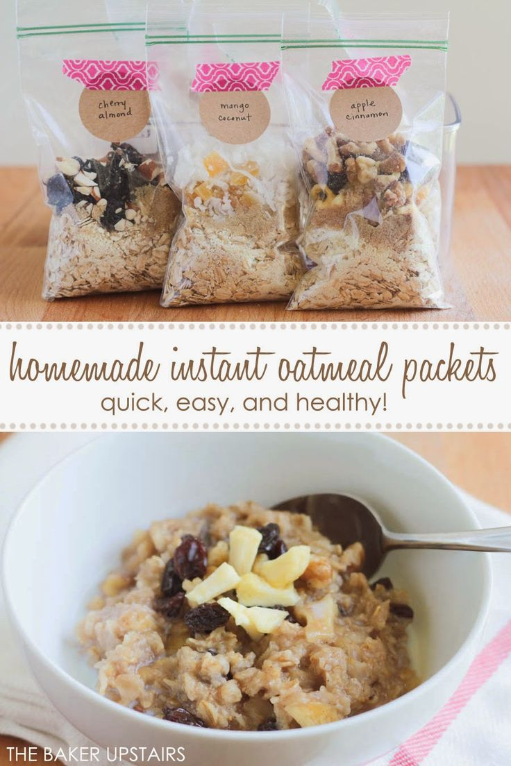 Homemade instant oatmeal packets - quick, easy, and healthy too! www.thebakerupstairs.com