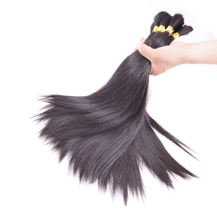 Human Braiding Hair Bulk Sale - 100% Raw Virgin Remy Silky Straight Human Hair Natural Color 12 to 30 Inches