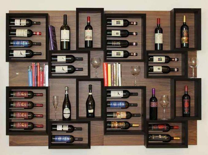 Estantería vinos  vino  Pinterest  Departamento tipo loft, Vinos y