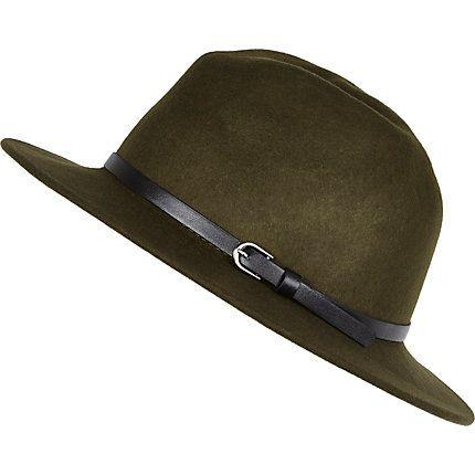 Khaki green fedora hat £20.00