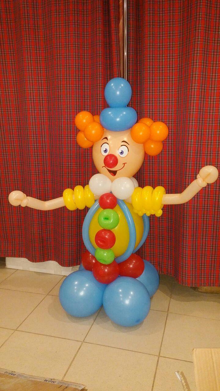 клоун из шаров фото мк правой кнопкой