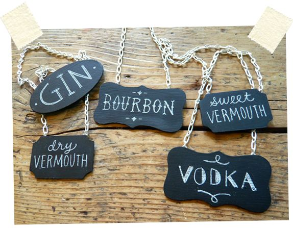 DIY decanter nameplates. lets do this... perfect for holiday gifts!