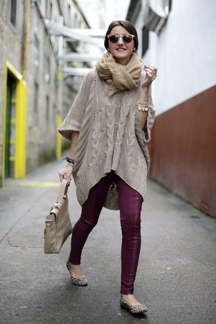 Lovelypepa. Purple pants. SWEATER <3 Infinity scarf <3