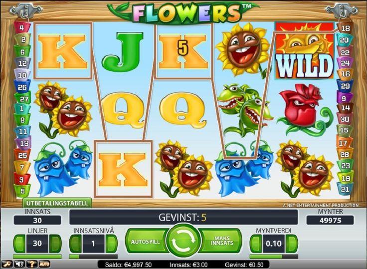 Den eldgamle trollmannen Flowers er tilbake igjen og viser fram sine gamle triks i denne fem hjuls maskinen fra NextGen. #Flowers #spillemaskin