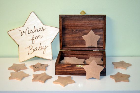Wishing Stars Baby Shower Keepsake Baby by BostonStreetBoutique, $49.50