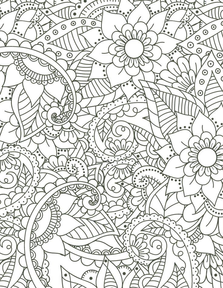 36 best coloriage fleurs et plantes flowers and plant colouring pages images on pinterest - Coloriage gratuit pour adulte ...