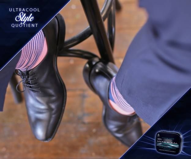 Everything you #wear should be as #cool as you are, even your #socks! They don't need to #match your #pants, but they should be an #extension of your #personality. #StyleQuotient