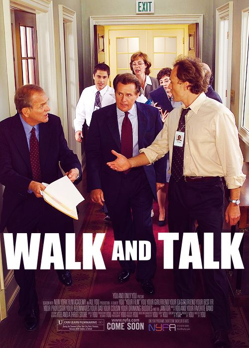 Walk and Talk: The West Wing. Please, someone, make this.
