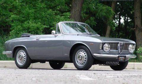 1965 Alfa Romeo 105 Giulia GTC Convertible Front