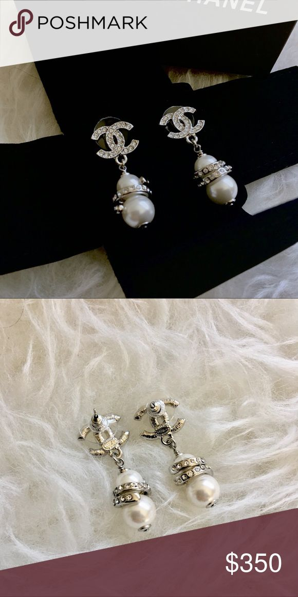 Chanel Earrings PRICR FIRM!! NO LOWBALLERS!💥 Brand new AUTHENTIC Chanel pearl earrings. Silver color. Gorgeous and stunning in person. Authenticity in back of earrings, see photos. Made in France. I cannot wear earrings due to surgery so my loss, these are lovely. Includes box and dust bag CHANEL Jewelry Earrings