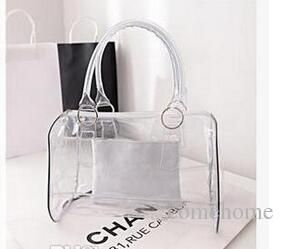 Whole Sale Fashion Women Candy Color Transparent Bag Clear Beach Bags Pvc Leather Bag Shopping Bag Handbag Tote Purse Pvc Plastic Discount Handbags Best Handbags From Comehome, $127.74| Dhgate.Com