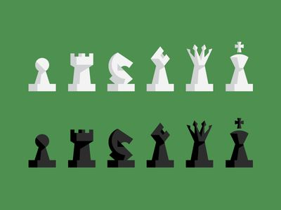 Chess Pieces by Andy Mangold via Dribbble