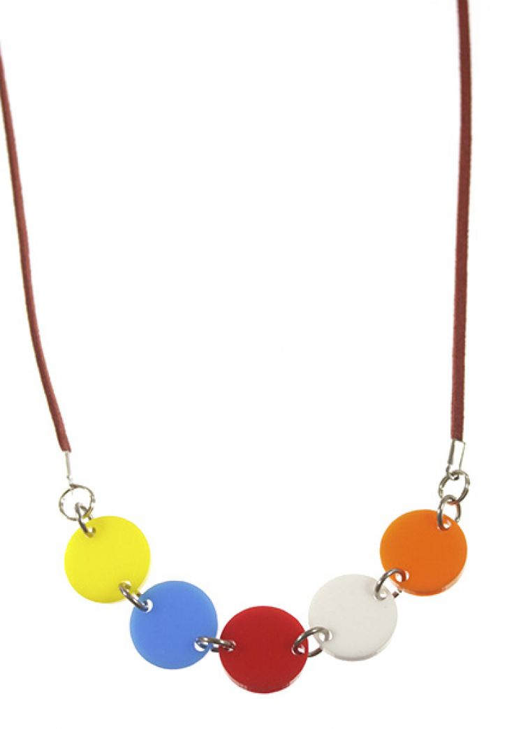 And So We've Come Full Circle acrylic necklace for kids.