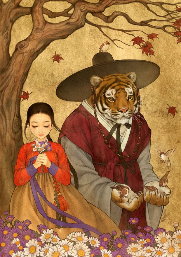 Beauty and the Beast, Alice in Wonderland, Wild Swans, Red Riding Hood, The Snow Queen, The Wizard of Oz art by obsidian (Wooh NaYoung) http://blog.naver.com/obsidian24/