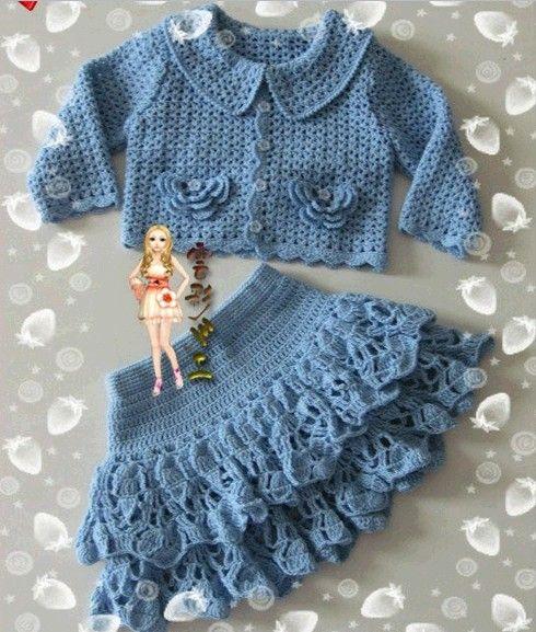 ❤ ✿ Mi Rincón del Tejido ✿ ❤: Falda y chaqueta para niña
