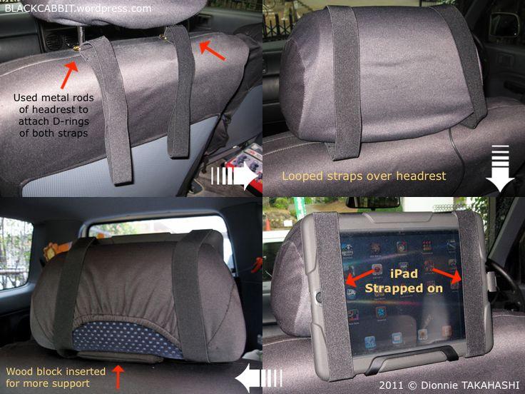 DIY iPad Car Headrest Holder | Ipad holder for car, Ipad ...