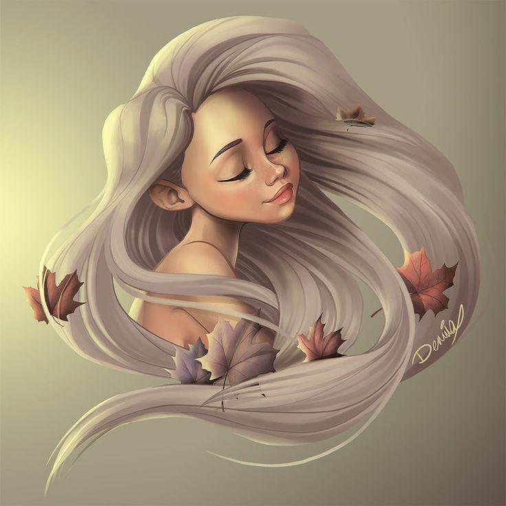 Красивые девочки нарисованные картинки