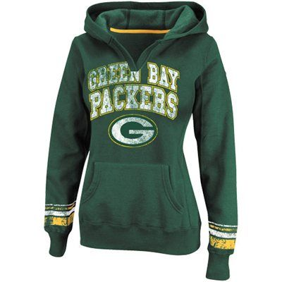 Green Bay Packers Ladies Preseason Favorite II Pullover Hoodie - Green