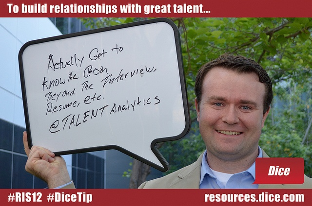 By screening humans, not resumes #RIS12 #DiceTip - dice resume
