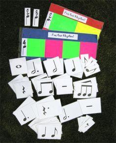 Tarjetas para trabajar ritmos Teaching Children Music