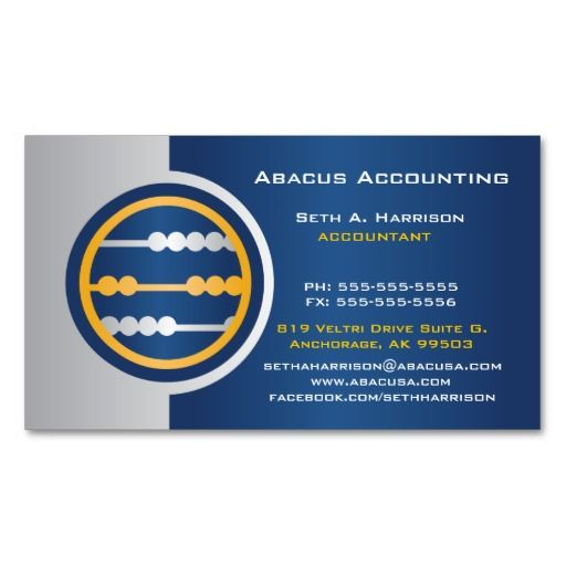 234 best accountant business cards images on pinterest lyrics abacus accounting business cards reheart Images
