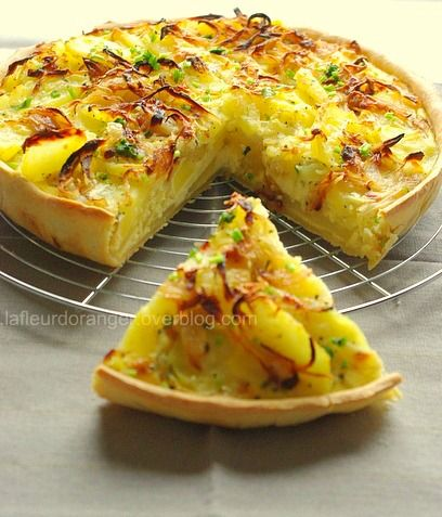 Recette de la tarte aux pommes de terre et au brie