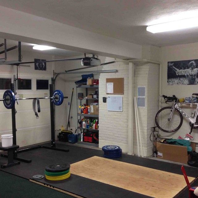 Oly platform and squat rack homegym gym weightlifting