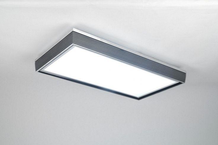 Artikel 30346 HOGE LICHTOPBRENGST IN DE LICHTKLEUR WARMWIT. Zeer functioneel TL- armatuur in energiezuinige uitvoering! Dit armatuur is voorzien van een omlijsting welke is uitgevoerd in mat geschuurd aluminium.  Tussen de aluminium profielen is het verzonken gedeelte zwart gemaakt. De glanzend, witte onderplaat is van acryl. http://www.rietveldlicht.nl/artikel/plafondlamp-30346-modern-design-aluminium-kunststof-zwart-rechthoekig