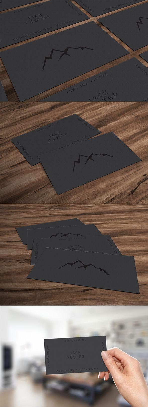 Simple dark business card #design #graphicdesign #businesscard