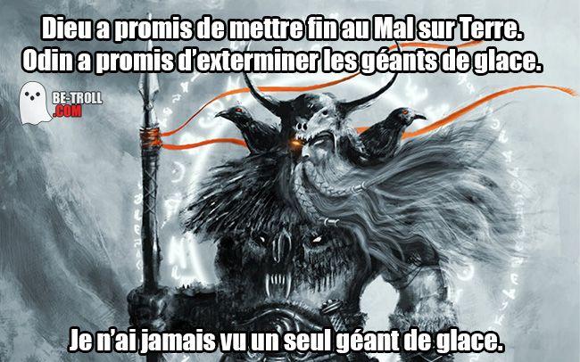 Odin > Dieu ! - Be-troll - vidéos humour, actualité insolite