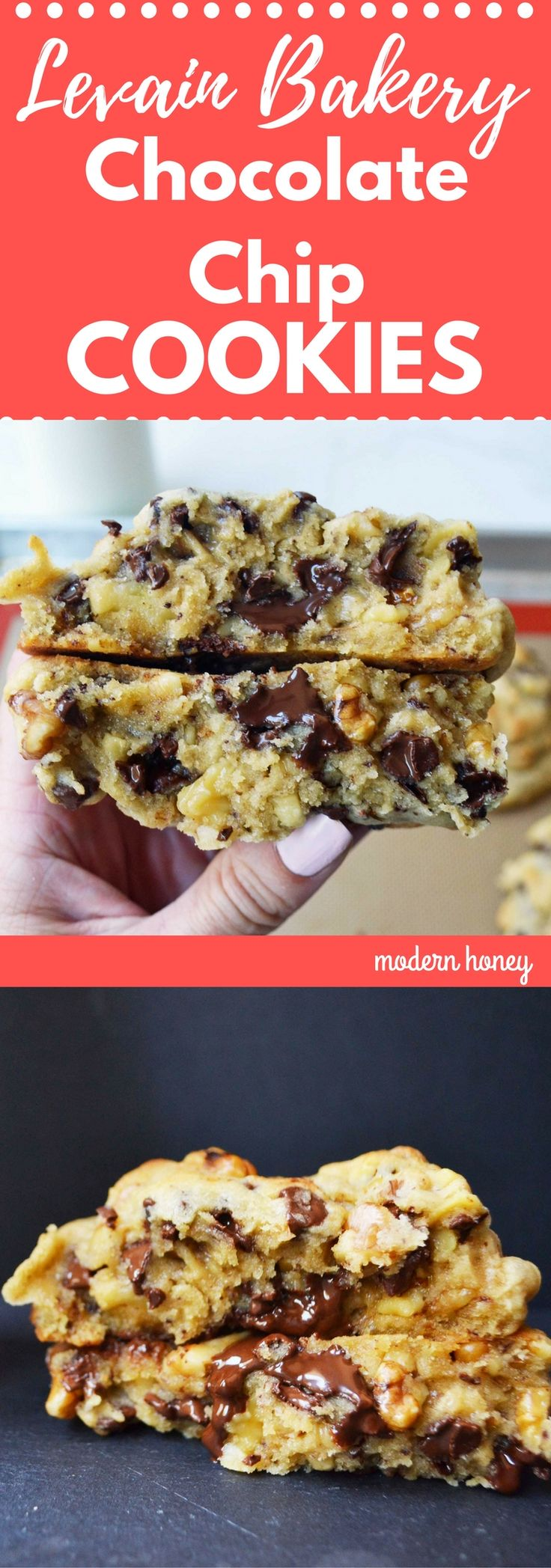 Levain Bakery Chocolate Chip Copycat Cookie Recipe. 5 Star Rating Chocolate Chip Cookie. The most popular recipe on Modern Honey.