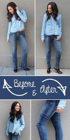 Handig om van je oude jeans een nieuwe skinny te maken