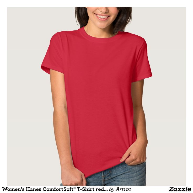 Women's Hanes ComfortSoft® T-Shirt red rouge