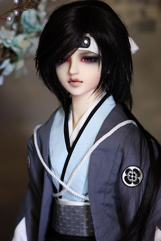 SDGr Okita Souji Romantic glance ver.- Mod for Auction  I read and read the information of Okita souji in history, he was dead early(around 26 years old), I felt sad and imagined a lot, and wanted to express his sorrow and sad beauty..