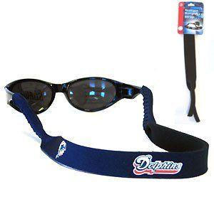 Miami Dolphins Neoprene NFL Sunglass Strap Miami Dolphins Neoprene NFL Sunglass Strap by Siskiyou. $3.95. Prioritize how you accessorize by teaming our Miami Dolphins neoprene strap with our NFL sunglasses. Straps are adorned in team logos and colors. Sunglasses hang from the 16'' strap with flexible tube openings to fit snuggly over thin to wide styles.. Save 82%!