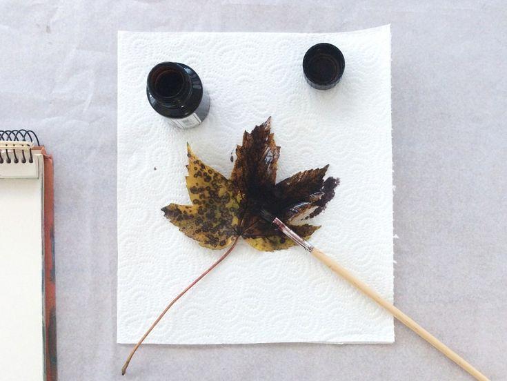 Herbstdekoration drucken einfache DIY Anleitung  || von knobz