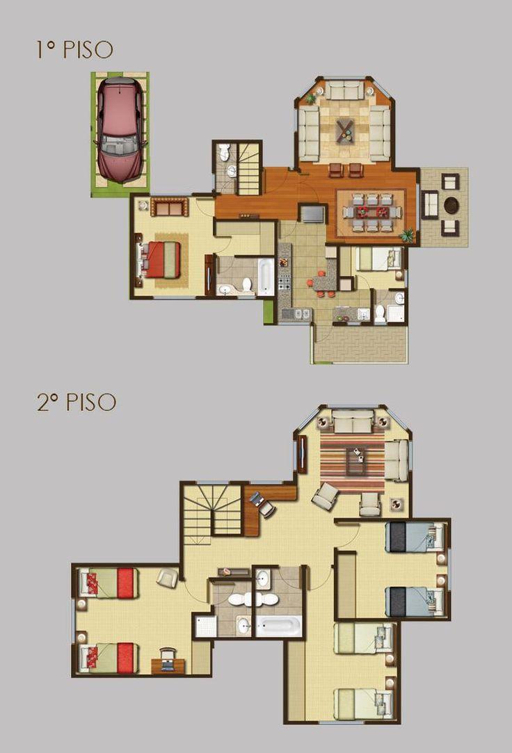 Las 25 mejores ideas sobre planos de casas de campo en for Tejados de madera prefabricados