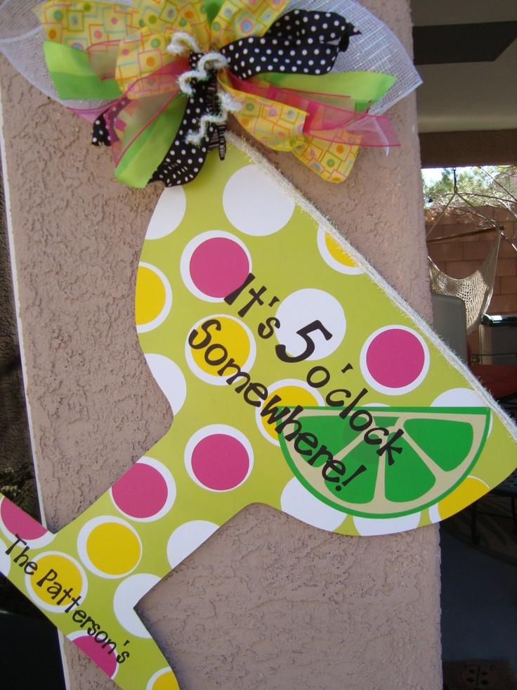 Margarita Martini Door Hanger Summer Pool by thepaisleypetalvegas $40.00 & 236 best Burlap Hangers images on Pinterest | Burlap door hangers ... pezcame.com