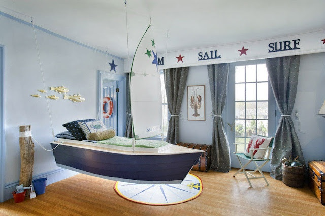 the boo and the boy: Really cool kids beds: Kids Beds, Cool Kids, Boats Beds, Idea, Nautical Rooms, Boys Decor, Little Boys Rooms, Child Bedrooms, Kids Rooms